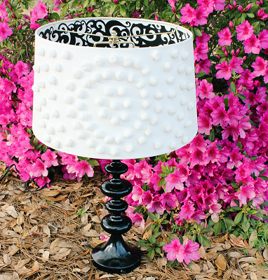 DIY Pom Pom Lampshade… Wayfair and Hometalk DIY Challenge