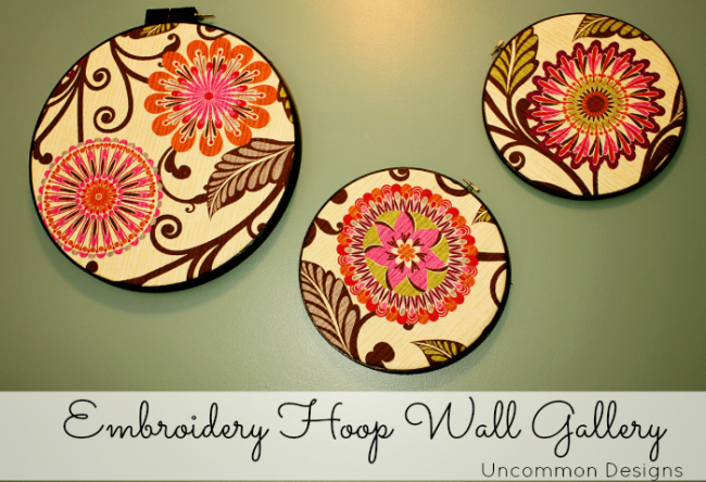 embroidery hoop wall gallery