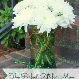 frosted glass vase for mom