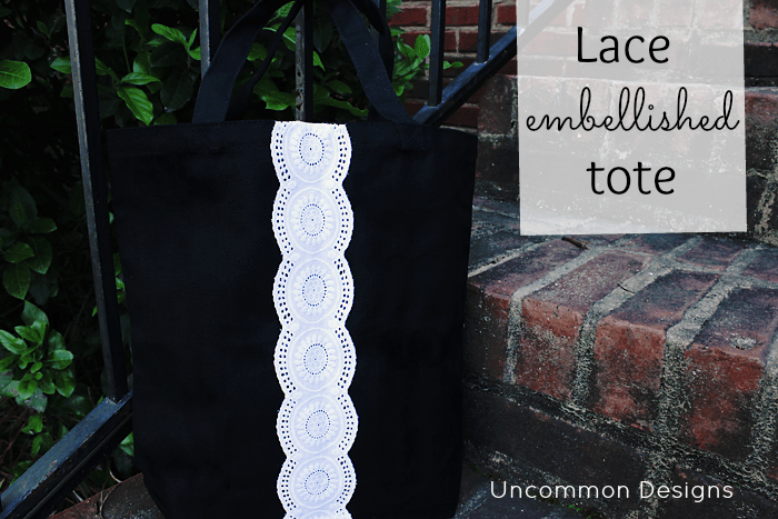 Create a simple and elegant tote in only a few steps wit minimal supplies! #handmadegift #mothersday #teachergiftidea #tote