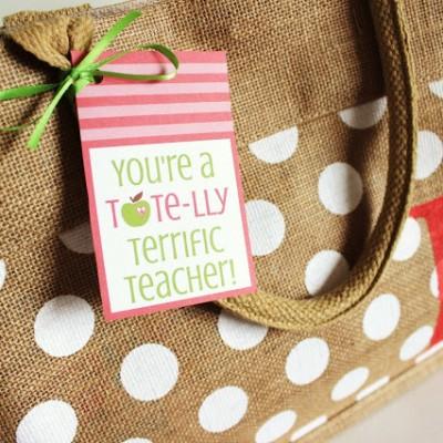 Teacher Appreciation Printable Tags… Tote-lly Terrific Gift Idea!