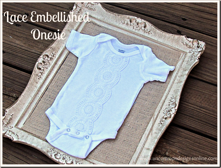 Lace Embellished onesie