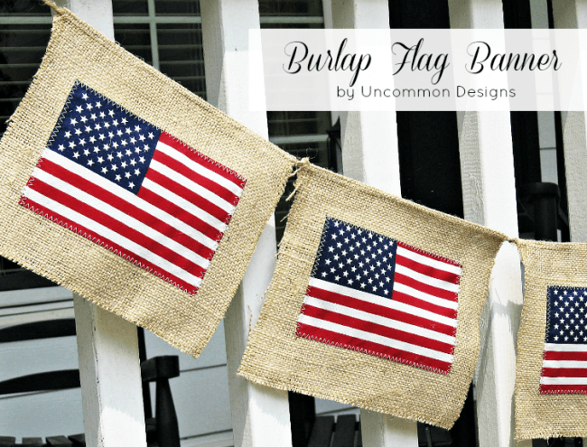 Burlap Flag Banner collage