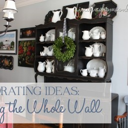 Decorating the Whole Wall … Tips and Ideas