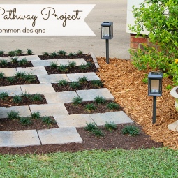 """Creating a  Paver Stone """"Zipper"""" Pathway with Home Depot #DigIn"""