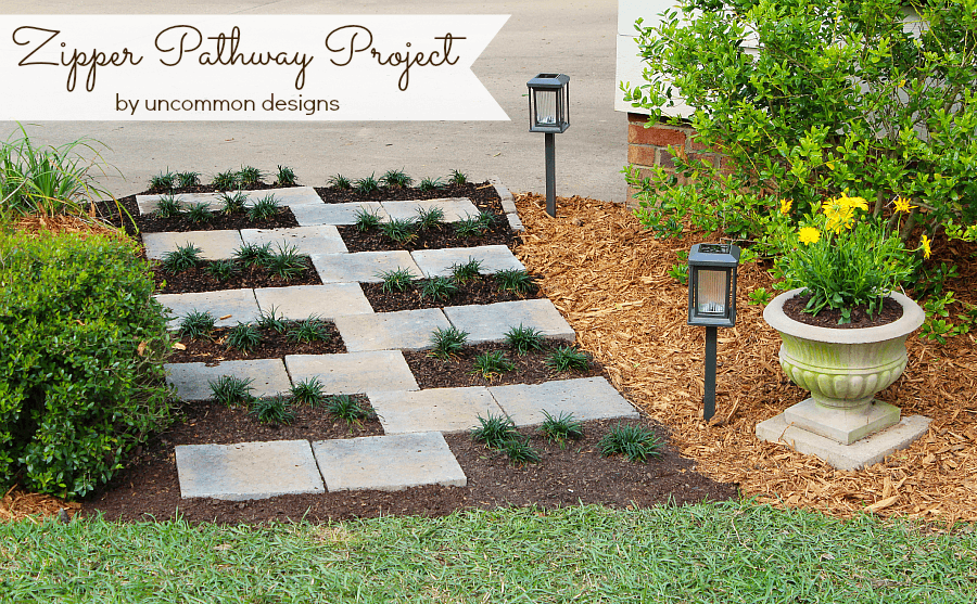Creating A Paver Stone Zipper Pathway With The Home Depot Digin