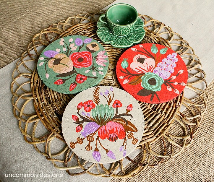 Painted-Cork-Coasters-Knockoff-2
