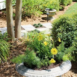 Zipper-pathway-planters