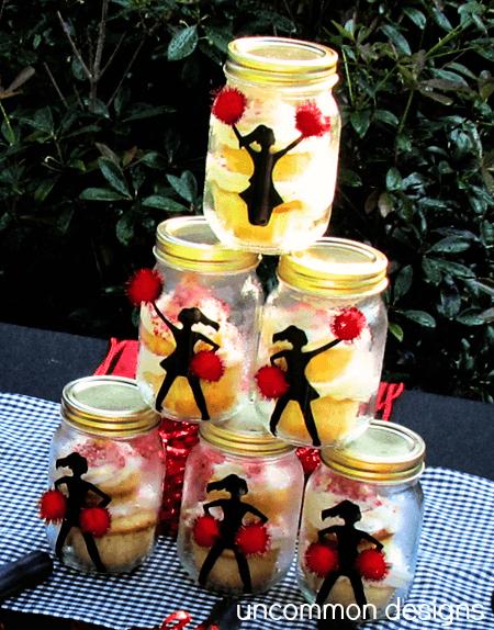 cheer pyramid cupcakes