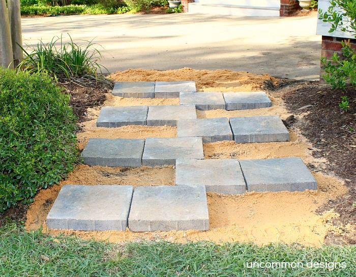 Creating A Paver Stone Zipper Pathway With The Home