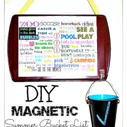 diy magnetic summer bucket list