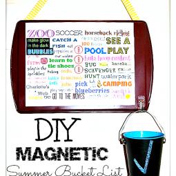 diy magnetic summer bucket list