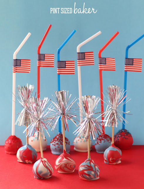 july 4th cake pops