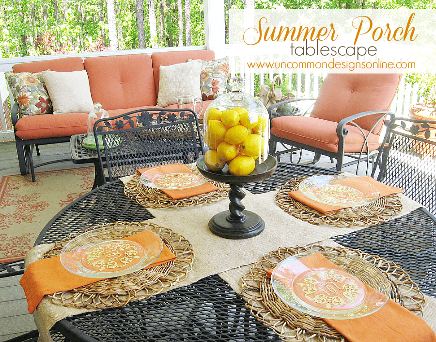 Summer Porch Tablescape And A Link Party