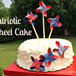 Patriotic Pinwheel Cake… A No Bake Cake!