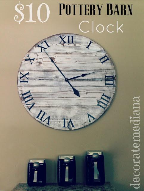 pottery  barn knock off clock