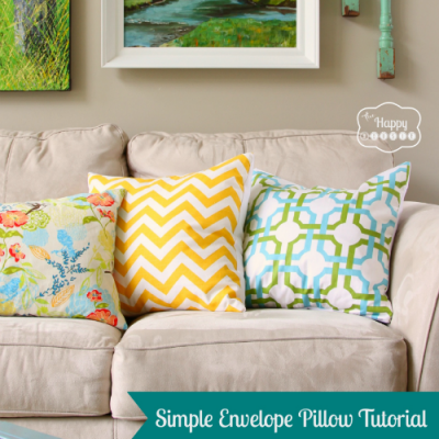 A Simple Envelope Closure Pillow Tutorial