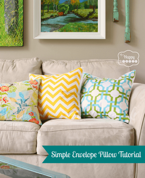 simple envelope closure pillow