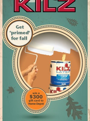 "Kilz ""Get Primed For Fall"" $300 Home Depot Gift Card Giveaway"