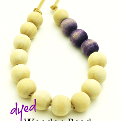 Dyed Wooden Bead Necklace