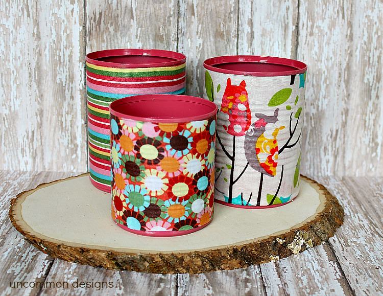 fabric-covered-cans-mod-podge