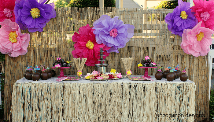 Table centerpiece for luau home ideas 2016 for Hawaiian decorations for home