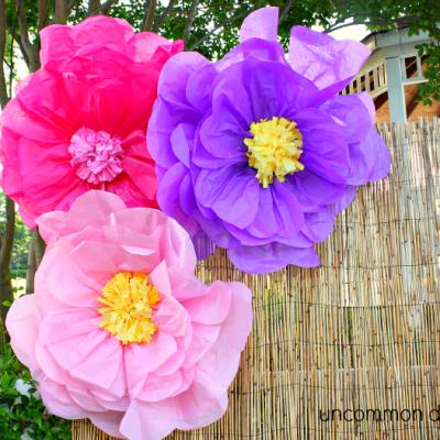 luau tissue flowers