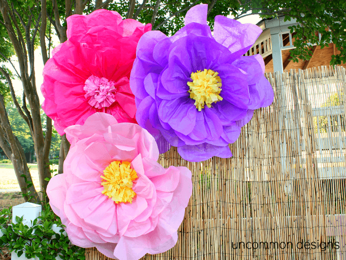 Make the coolest giant tissue paper flowers ever for Flower decoration made of paper
