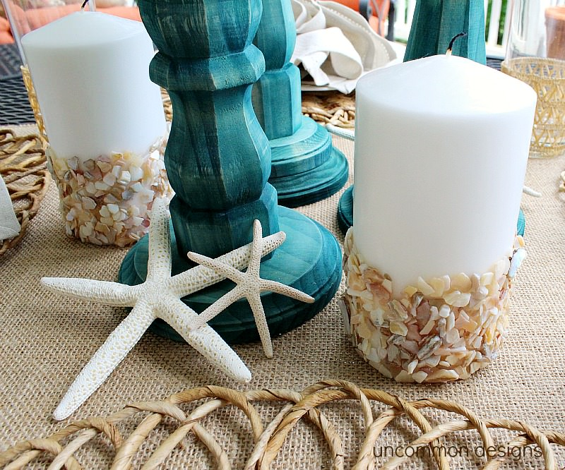 seashell-candles-beach-tablescape
