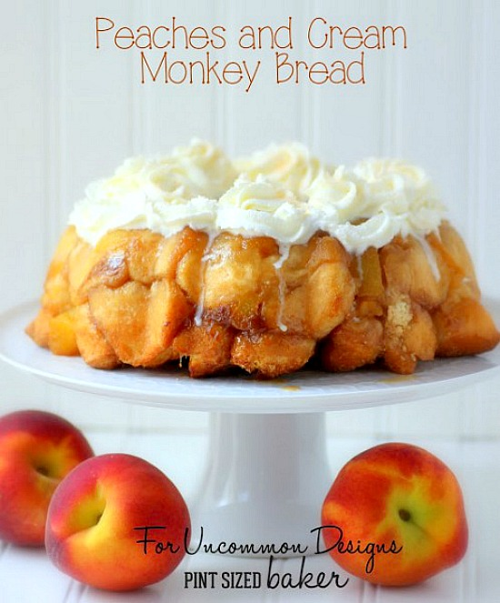 Peaches and Cream Monkey Bread