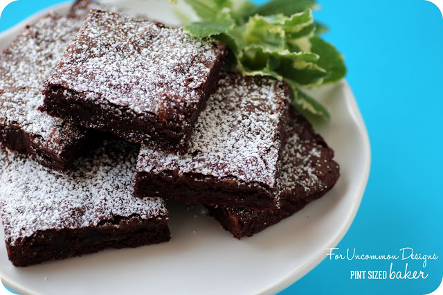 One Pot Mint Brownies - Uncommon Designs