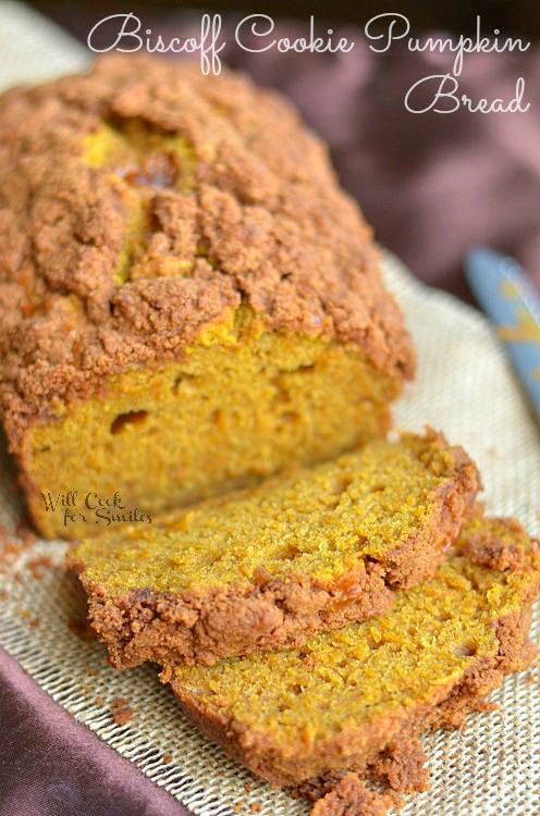 biscoff cookie pumpkin bread