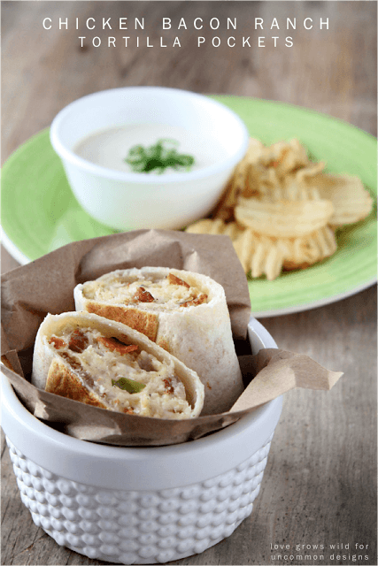 These incredible Chicken Bacon Ranch Tortilla Pockets are sure to be your family go to quick meal. I am so taking these on my next picnic! #familydinner #chickenrecipe #bacon #recipe