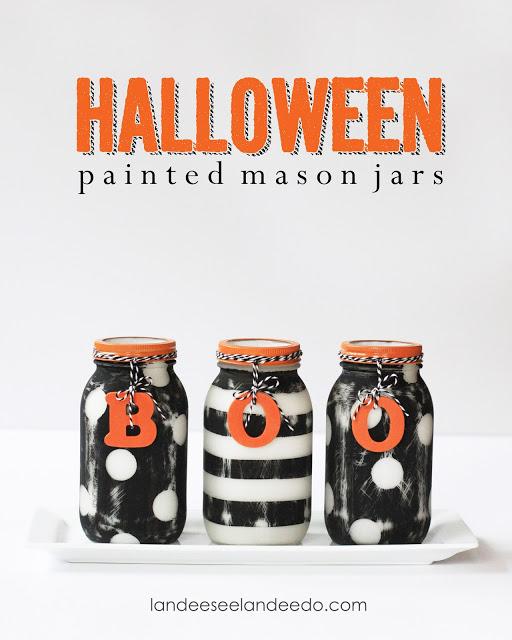 Halloween Painted Mason Jars