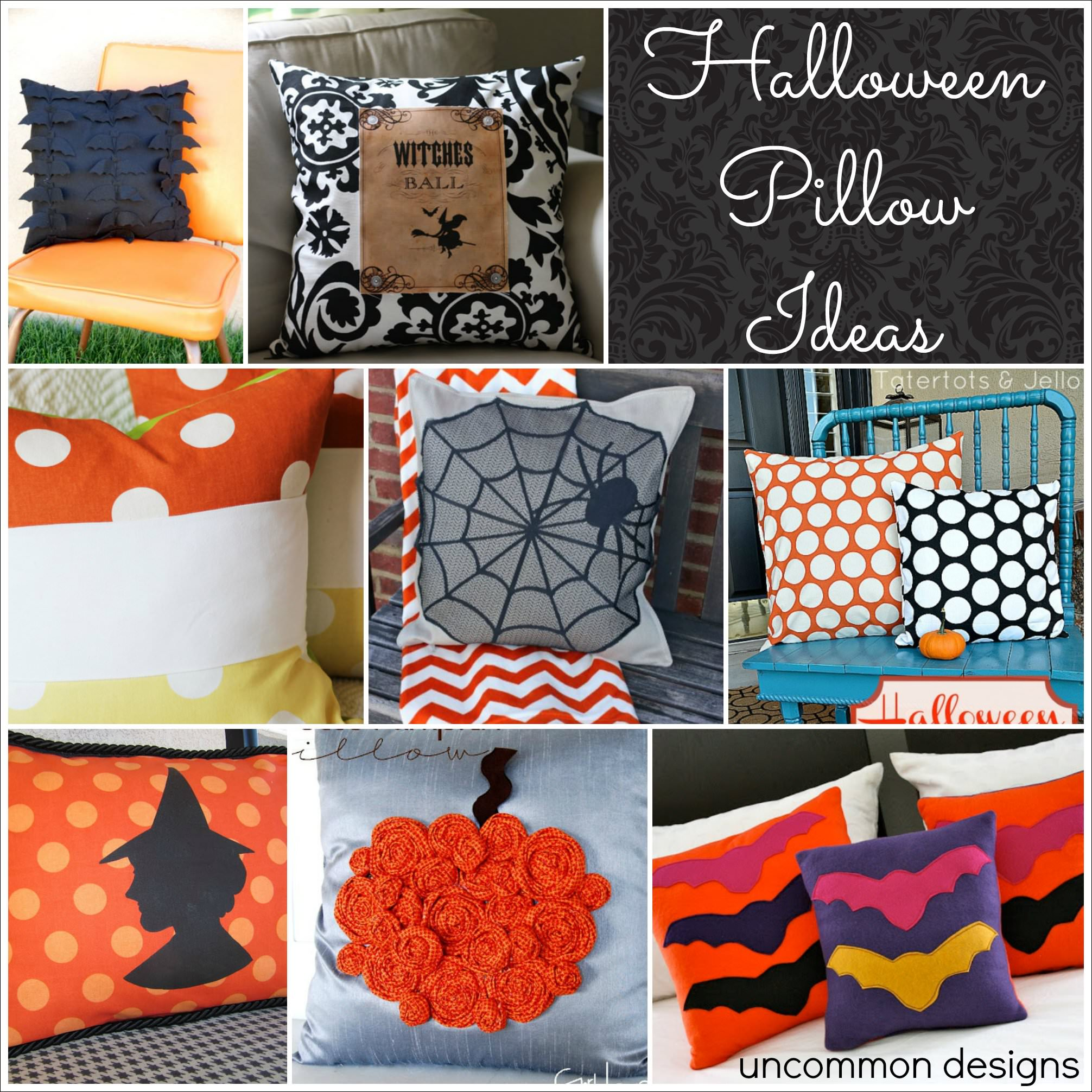 12 halloween pillow ideas ~ perfect for your home decor