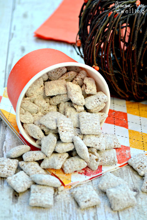 pumpkin nutella muddy buddies