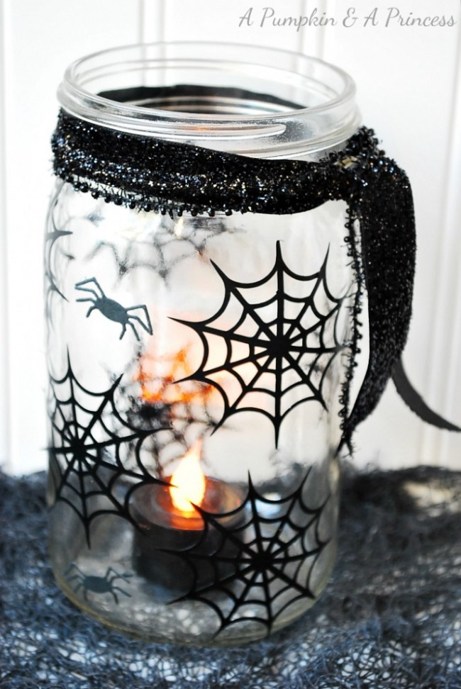 spiderweb mason jar