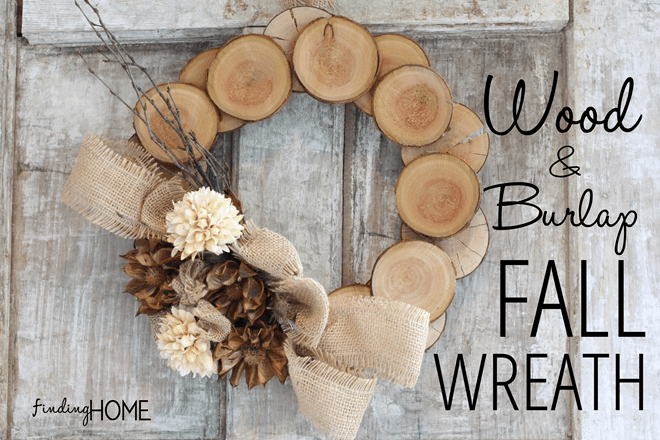 Wood Fall Wreath