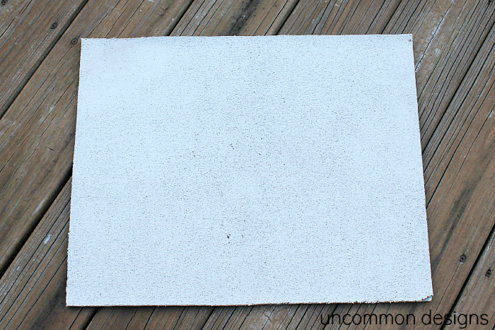 DIY Stenciled Cork Board
