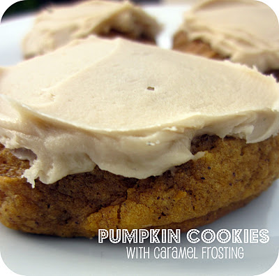 fall_desserts_pumpkin_cookies_with_caramel_frosting_myrecipemagic