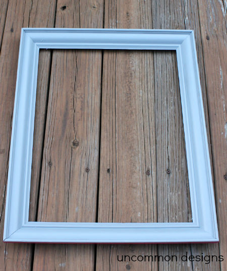 painted frame cork board