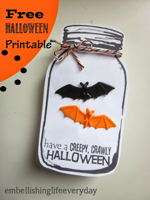 halloween mason jar printable