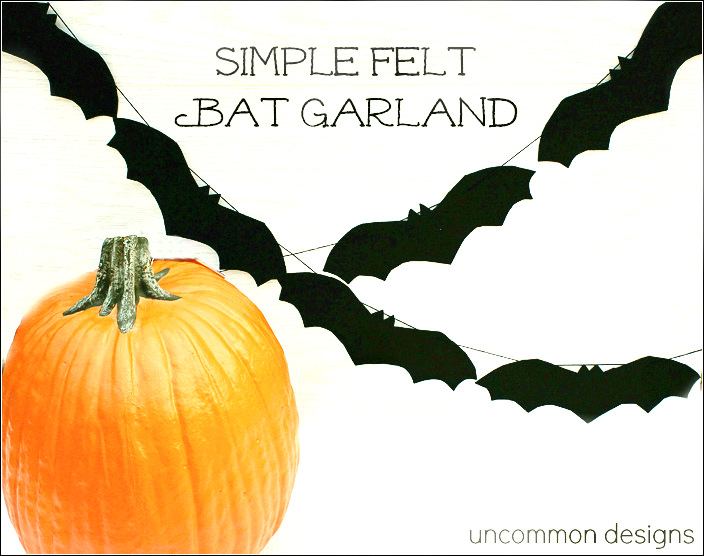 simple felt bat garland