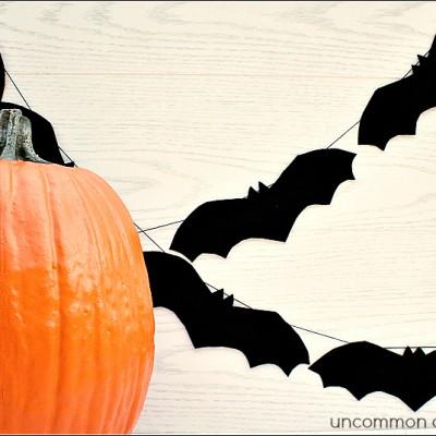 Simple Felt Bat Garland