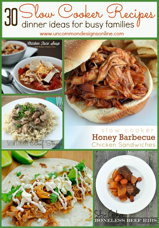 30 Slow Cooker Recipes