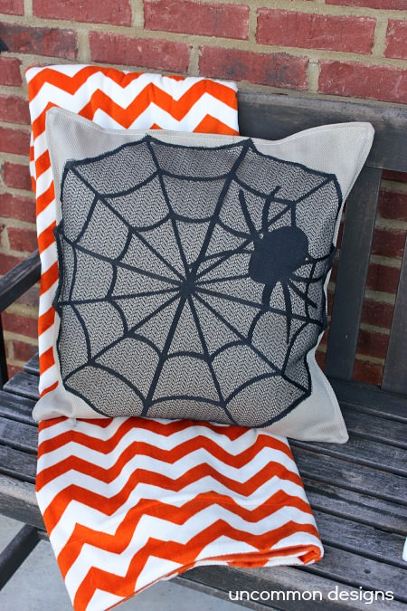 no sew halloween pillow cover