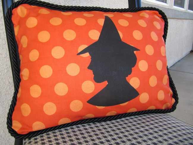 witch halloween pillow