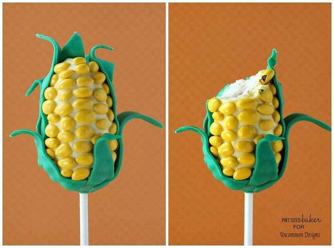 Cake Pop Candy Corn Treats ~ Perfect for a fall celebration! www.uncommondesignsonline.com #recipes