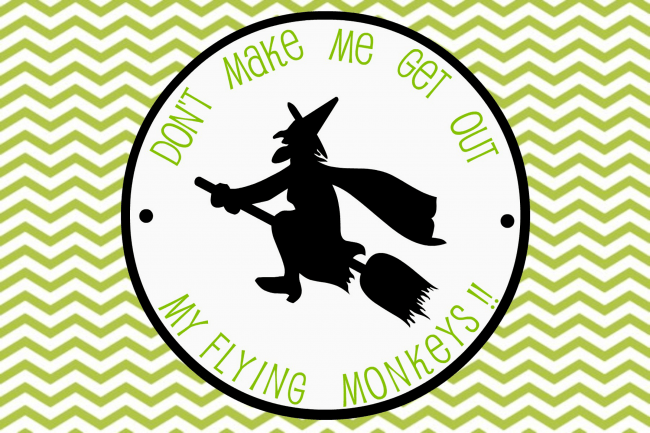 Flying Witch 4x6 Halloween Printable ~ www.uncommondesignsonline.com