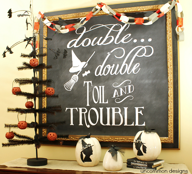 Halloween Chalkboard Art Display